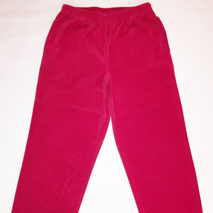 COLDWATER CREEK Red Cotton/Polyester Velour Pants